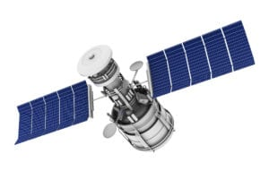 satellite with improved solar panels